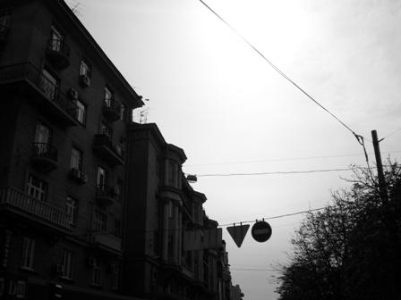 Darkening street