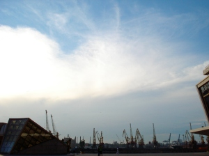 Odessa Port as the sun begins to go down