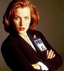 "love Scully, hate the whole ""Mulder did you get me pregnant?"" thing (well, hate the last two seasons, really)"