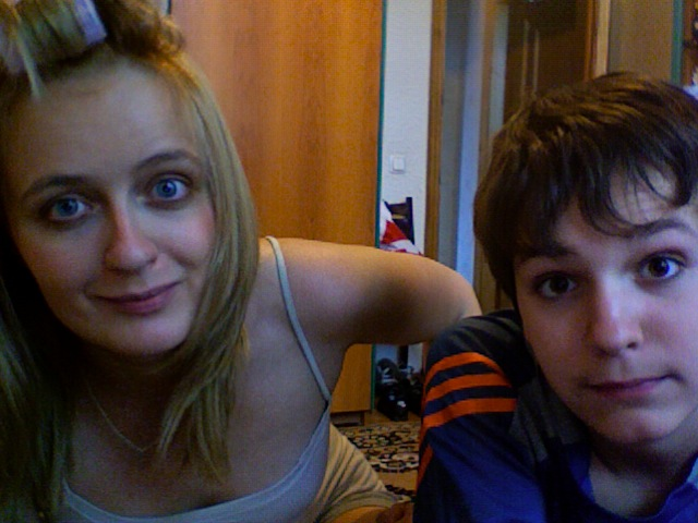 let's try looking like normal siblings just this once