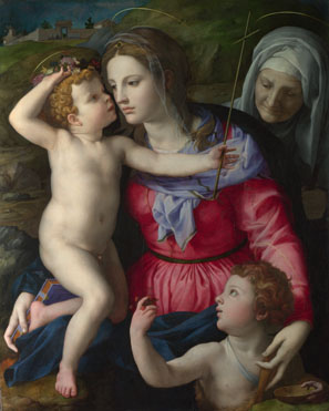 bronzino madonna with child and saints