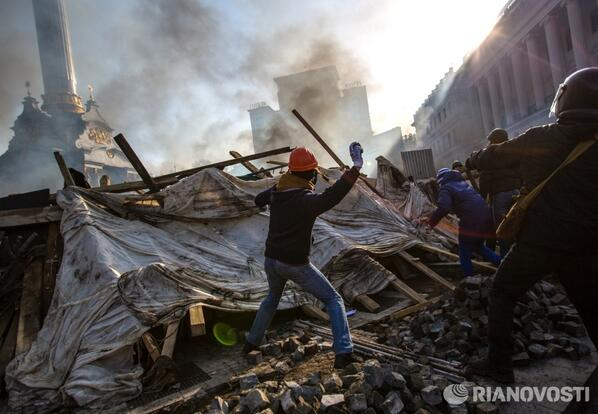 Clashes in Kiev a few days ago. Photo by my colleague Andrei Stenin.